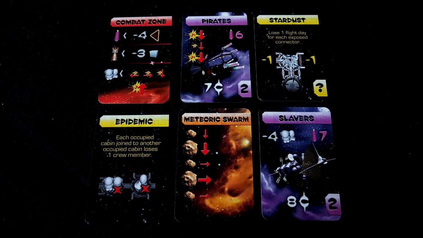 Cards in Galaxy Trucker