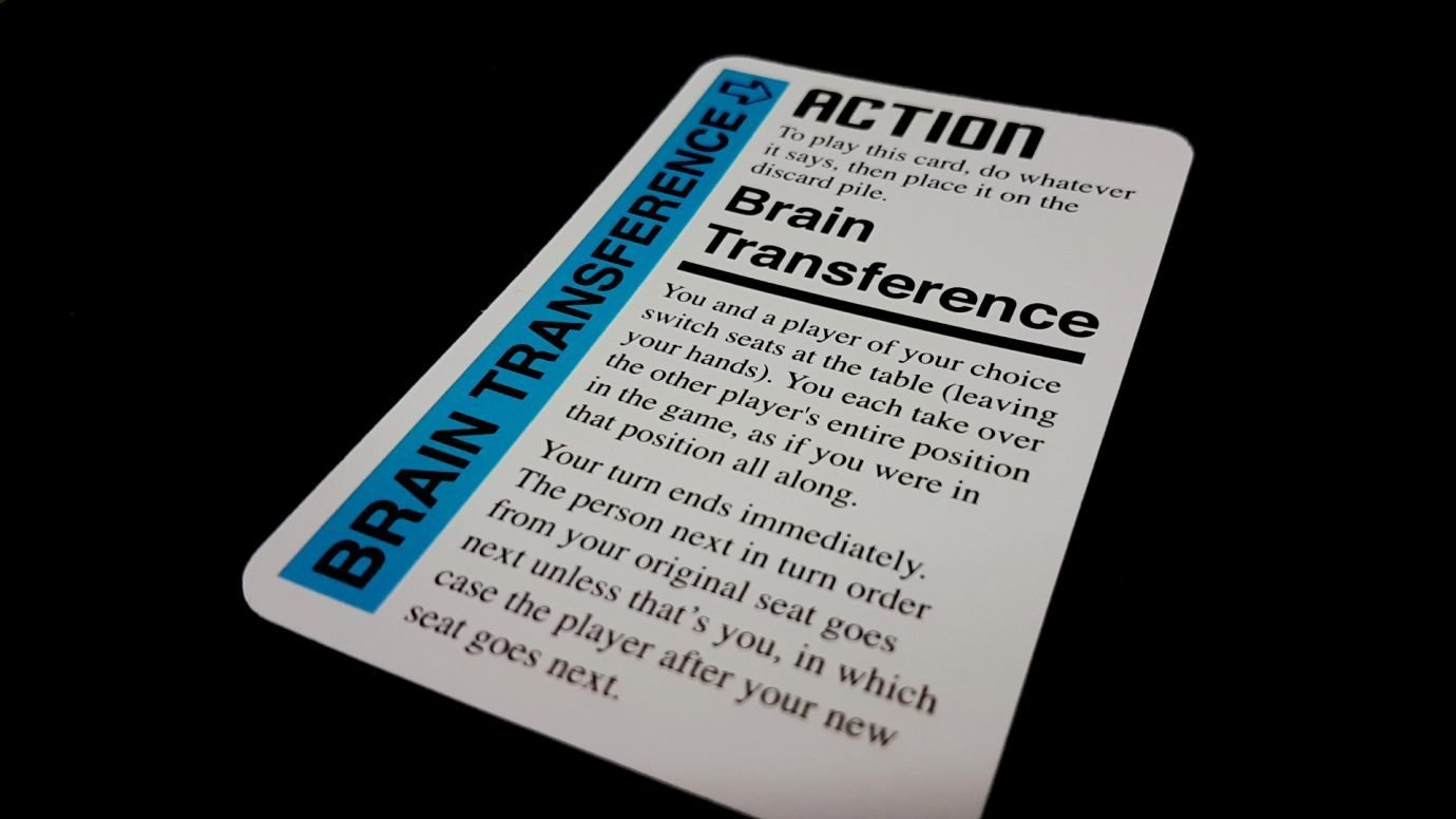 Brain transference card