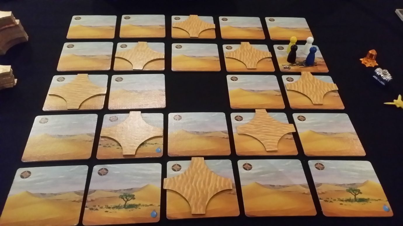 Desert with sand