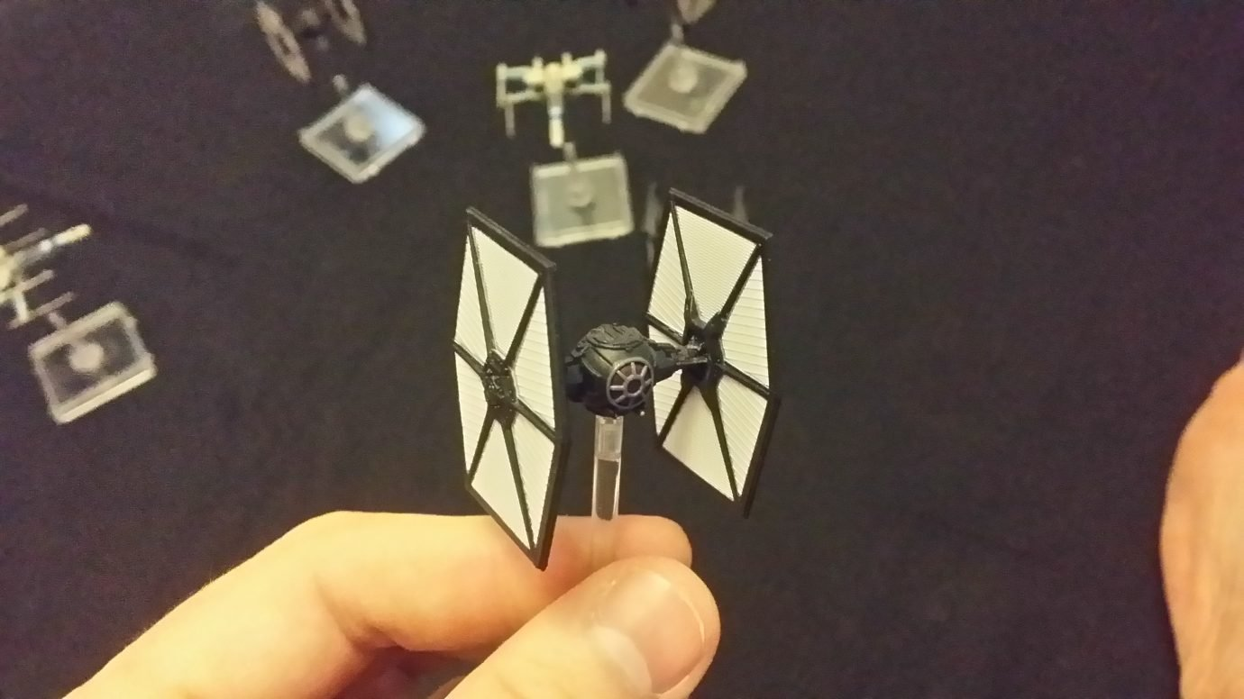 TIE fighter close-up