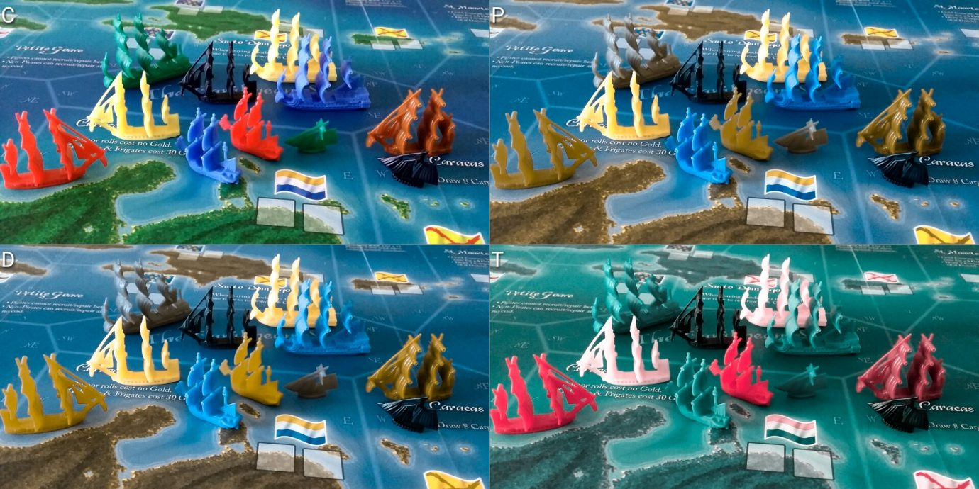 Colour blind ships