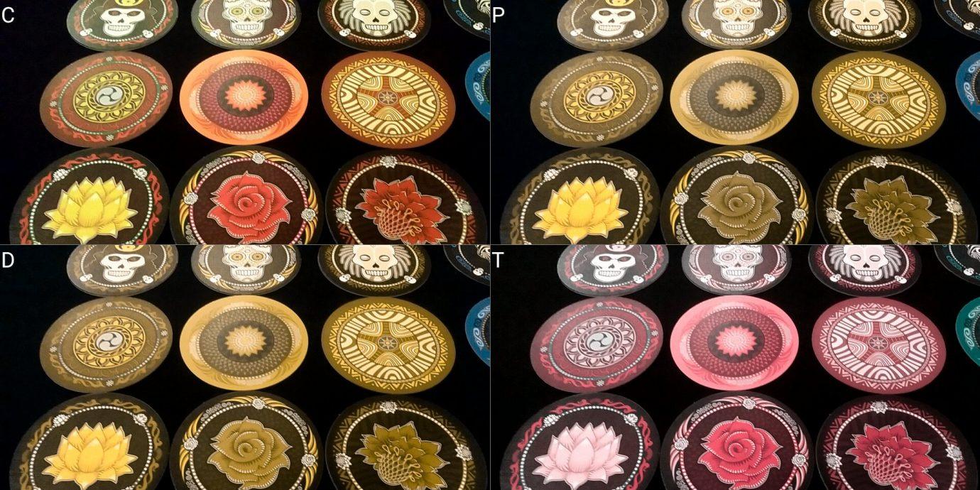 Colour blind discs