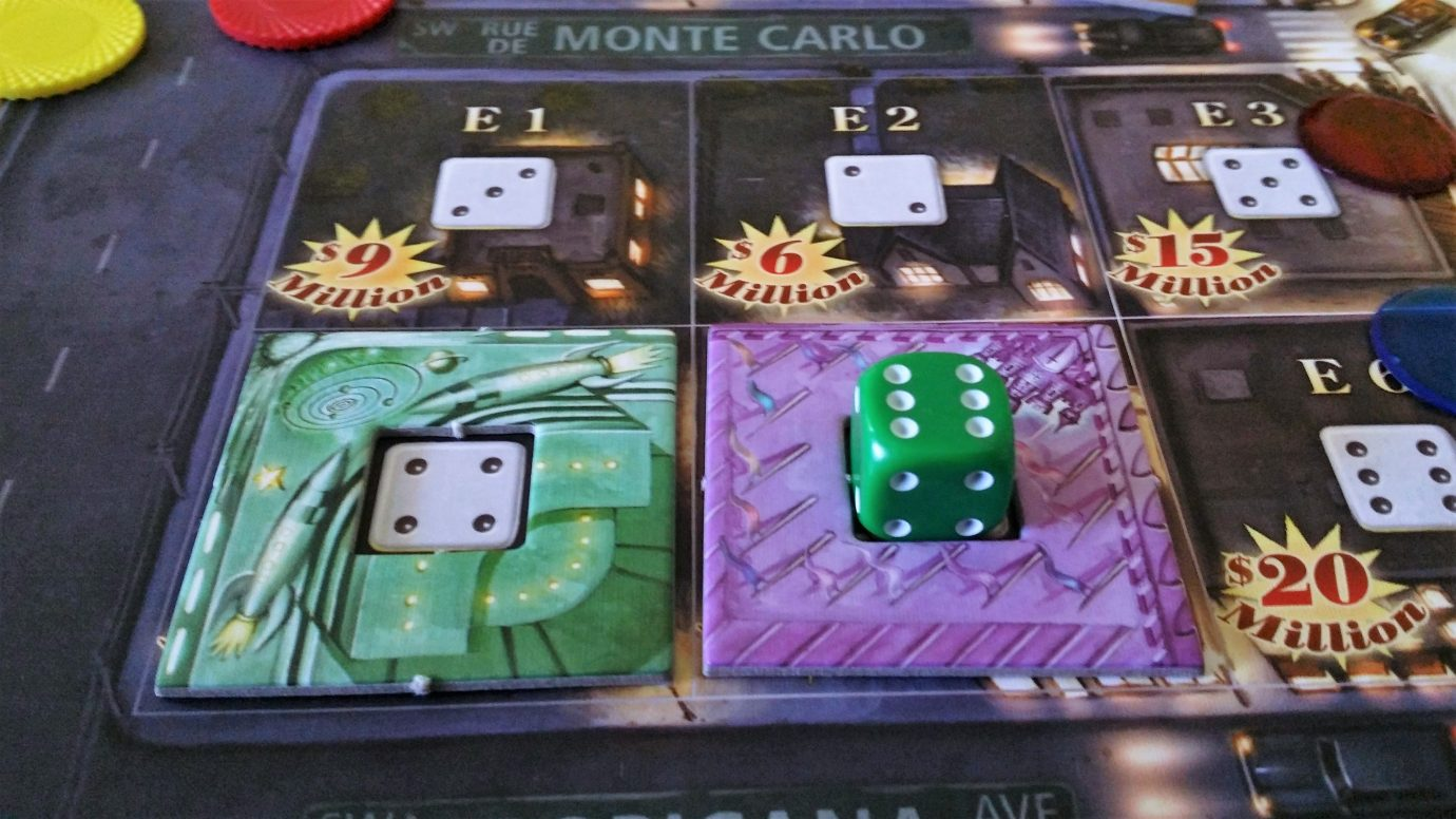 Casino tiles with dice
