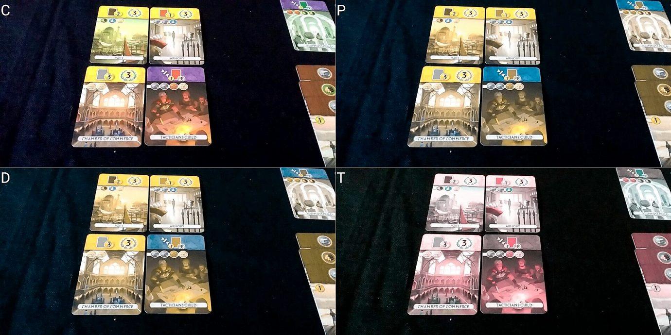 Colour blind guild cards