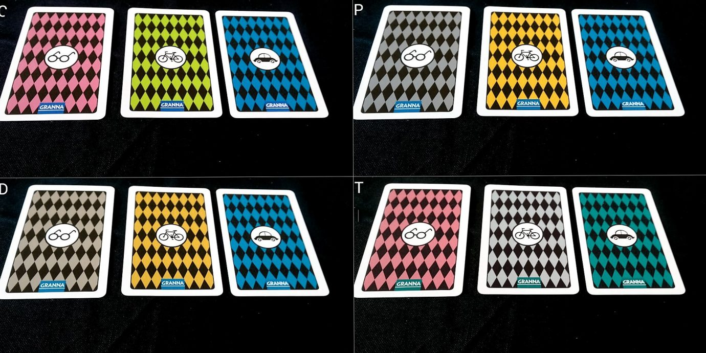 Colour blind cards