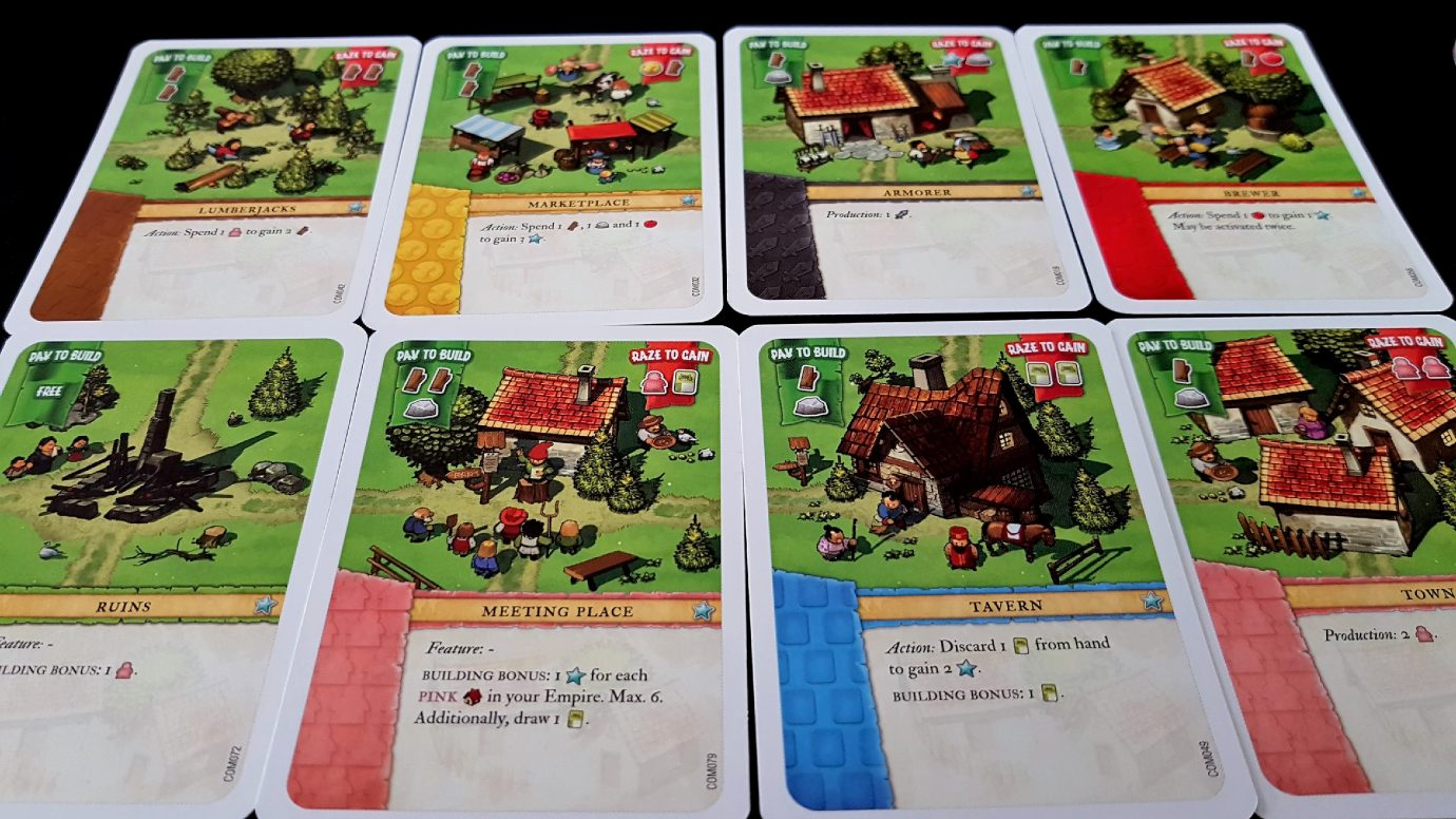 Various Imperial settlers cards