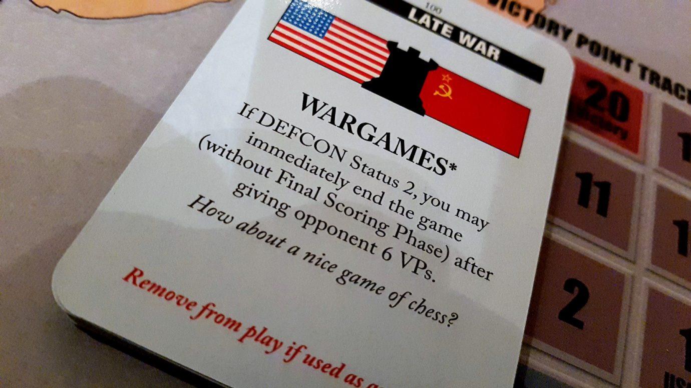 Wargames card