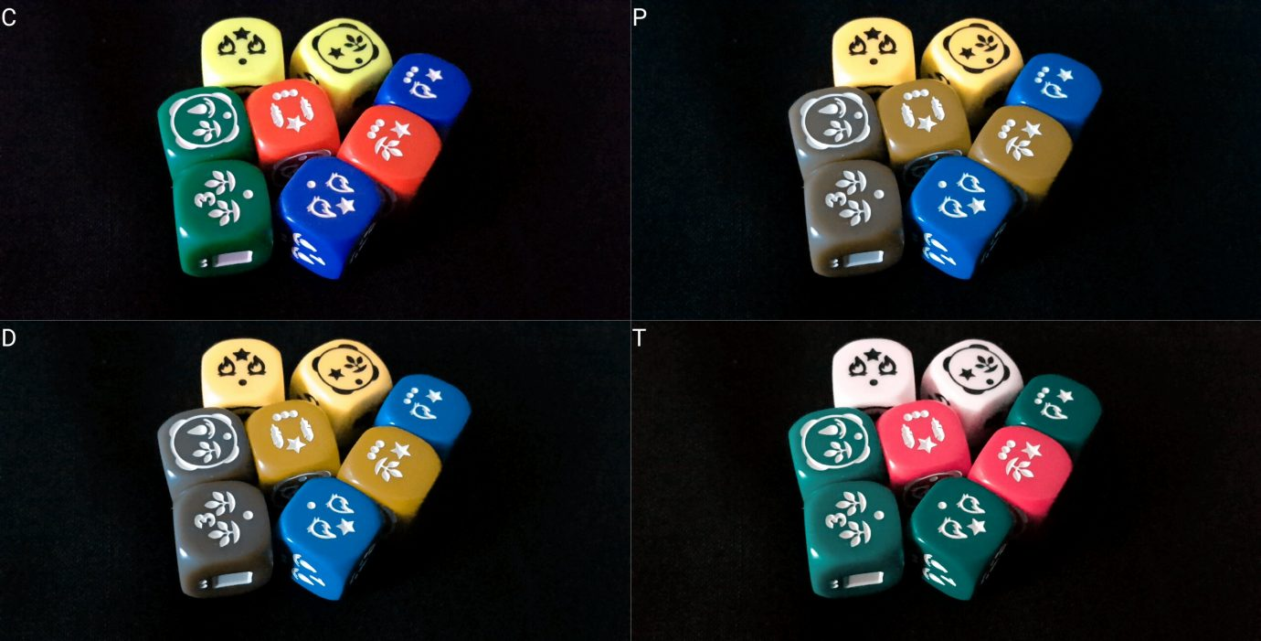 Colour blind dice