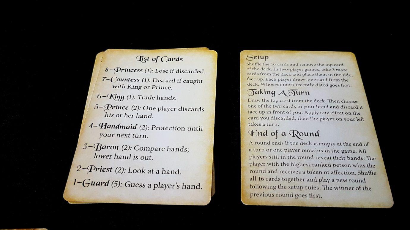 Setup cards