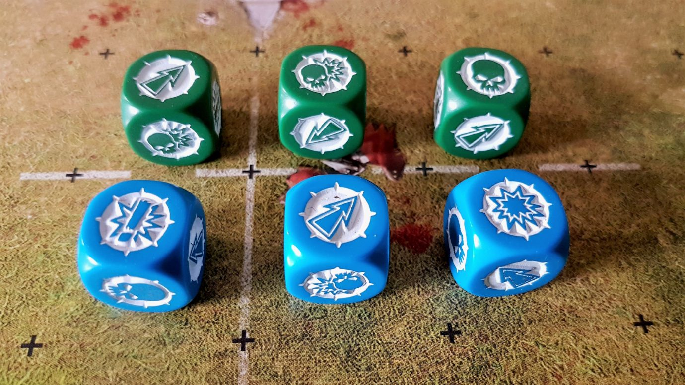 Blood Bowl dice