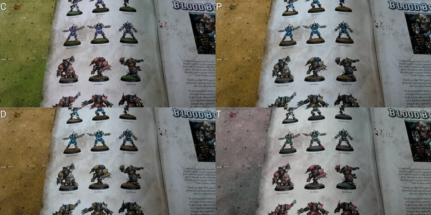 Colour blind painted models in manual