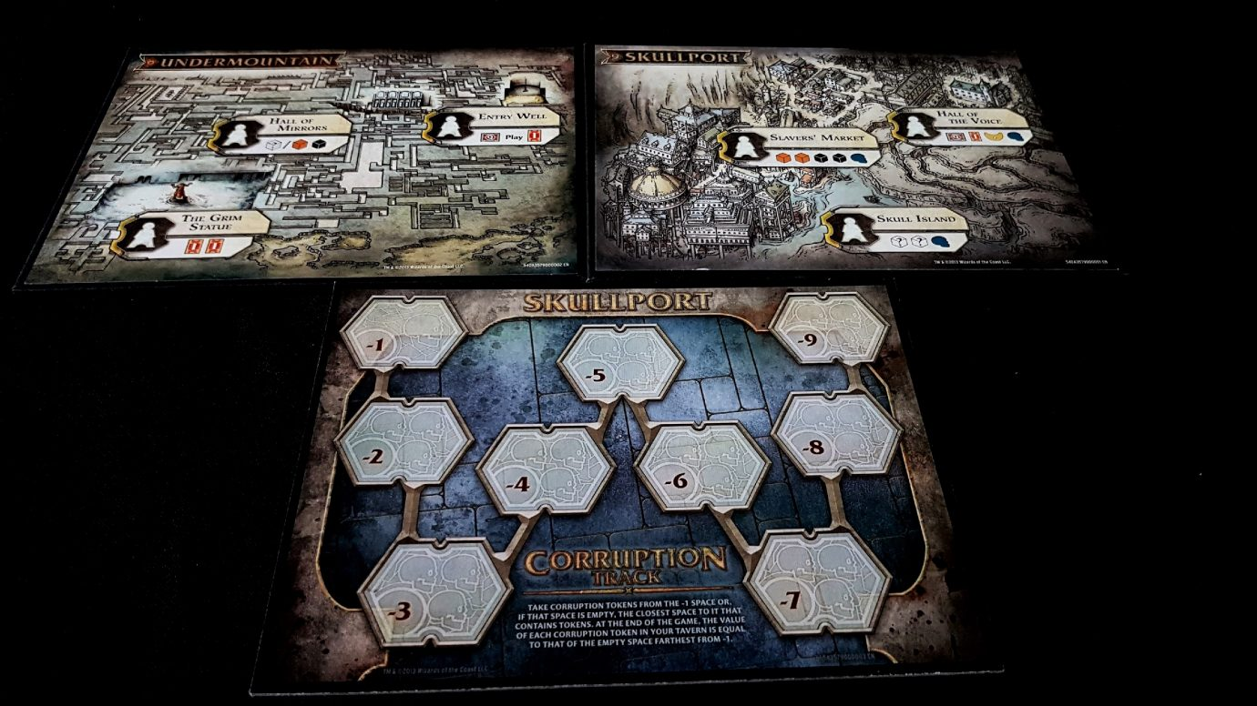 Boards in Skullport expansion