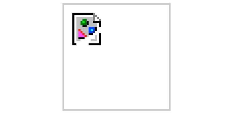 A broken image