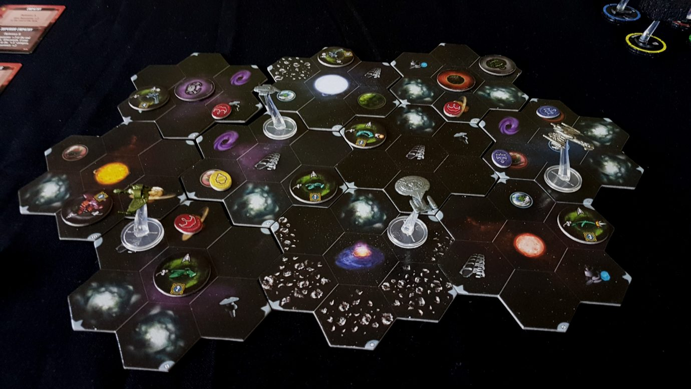 The game map with tokens