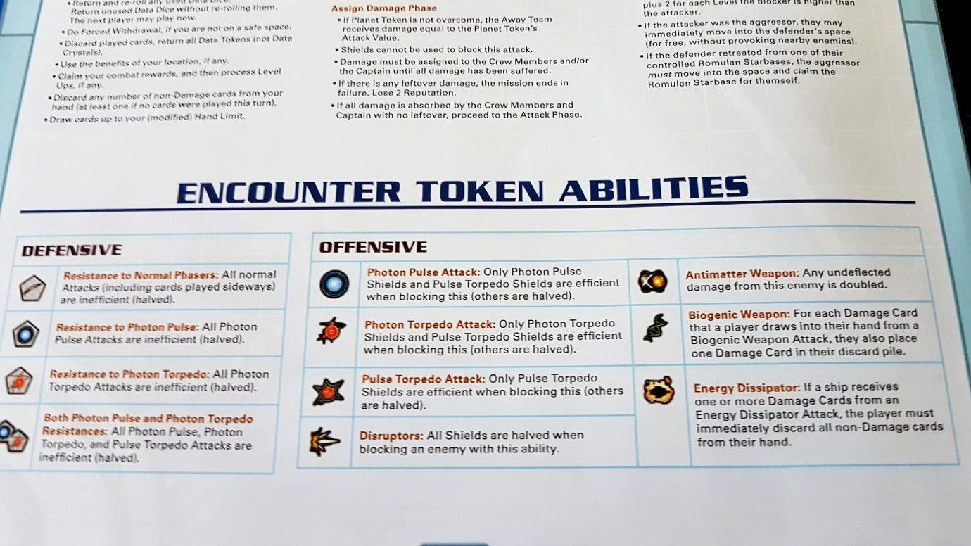 Encounter tokens