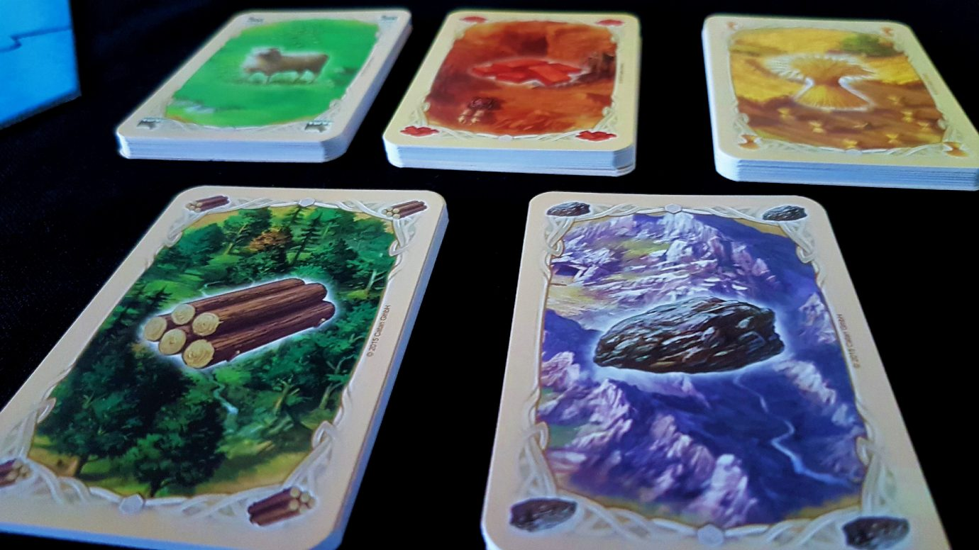 Resource cards in Catan