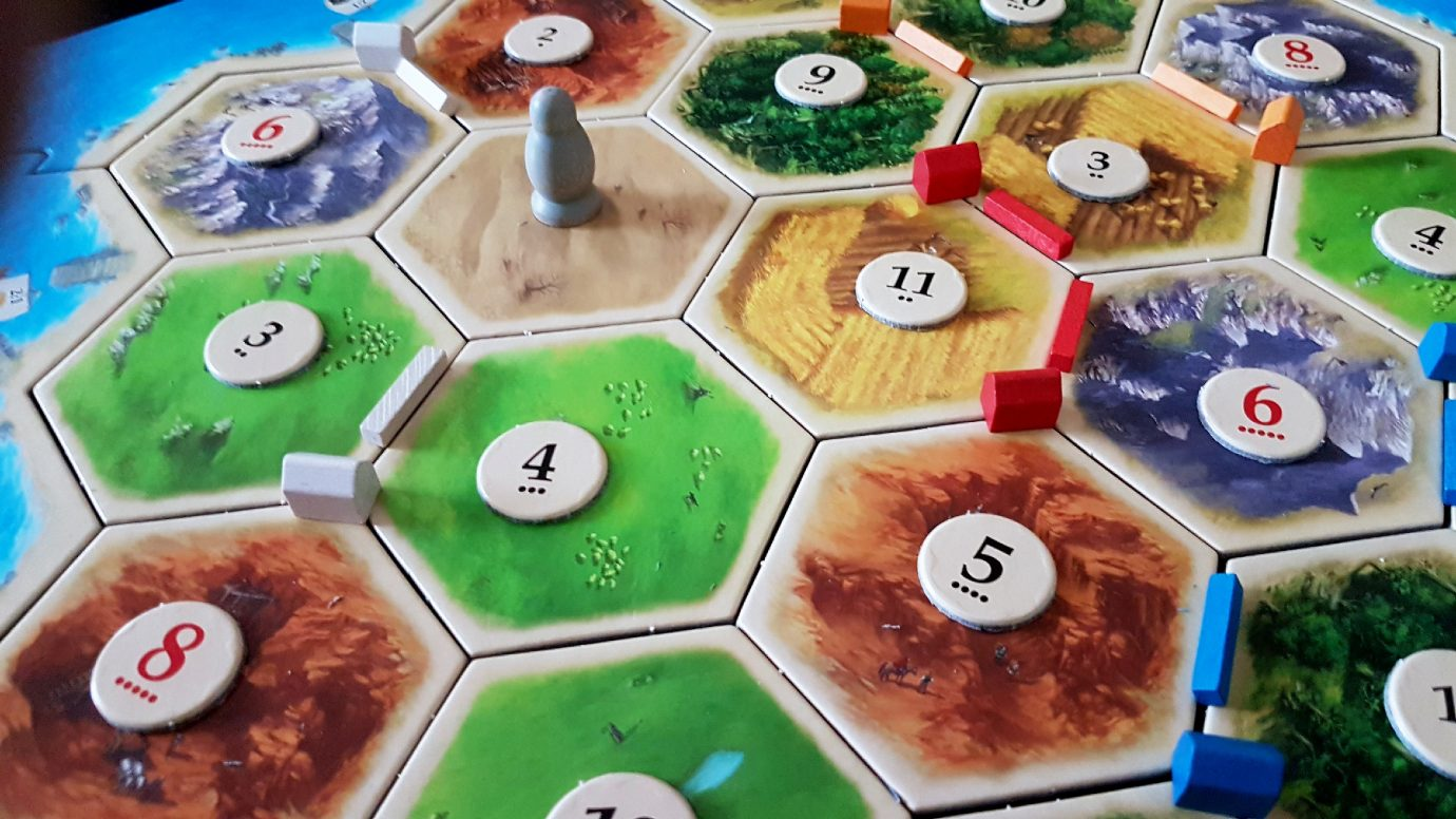 Robber and settlements in Catan