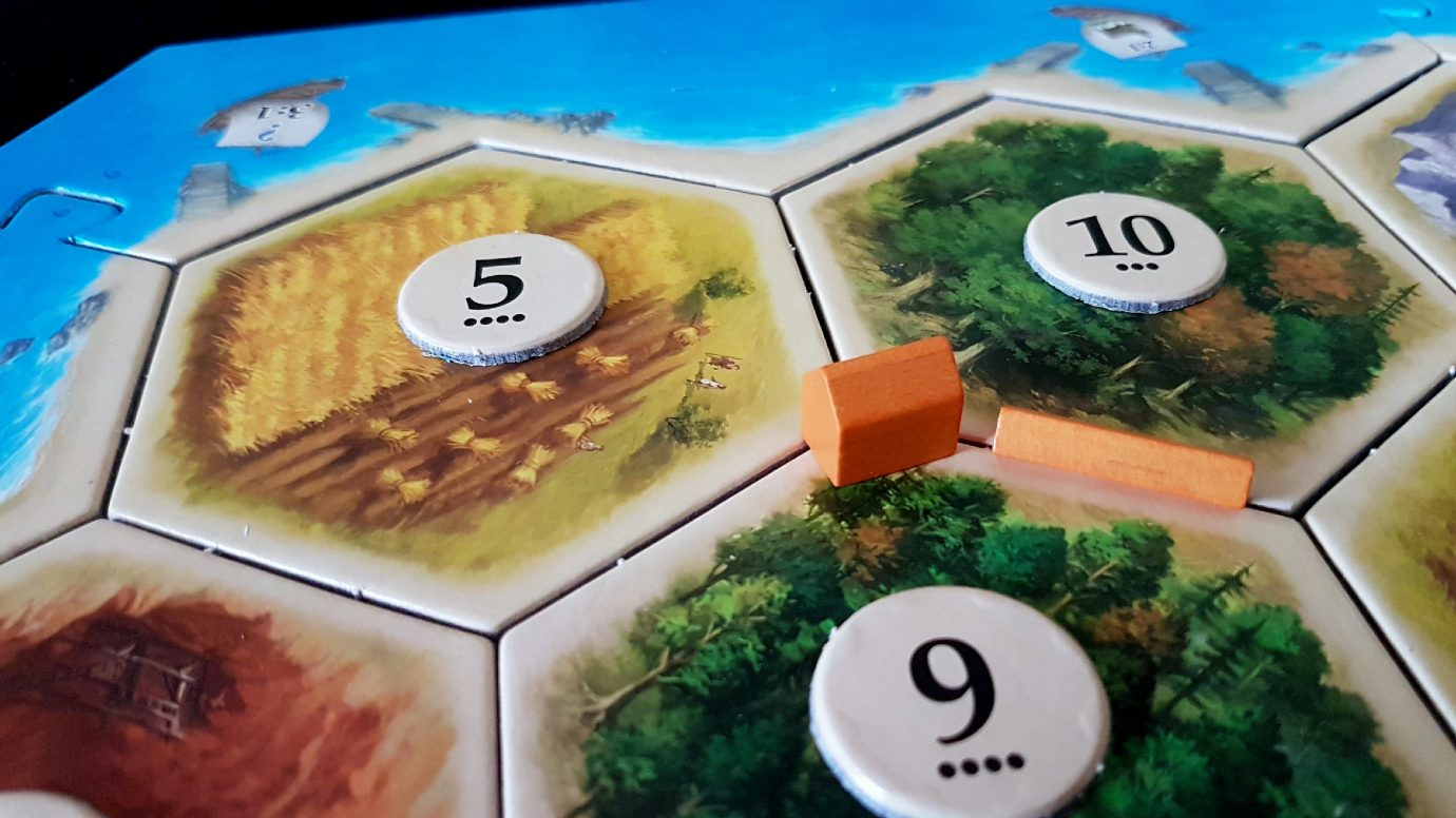 Forests and wheat in Catan