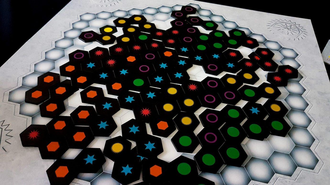 Scattered tiles