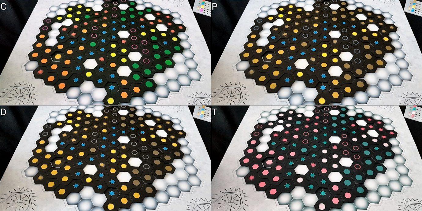 A colour blind board