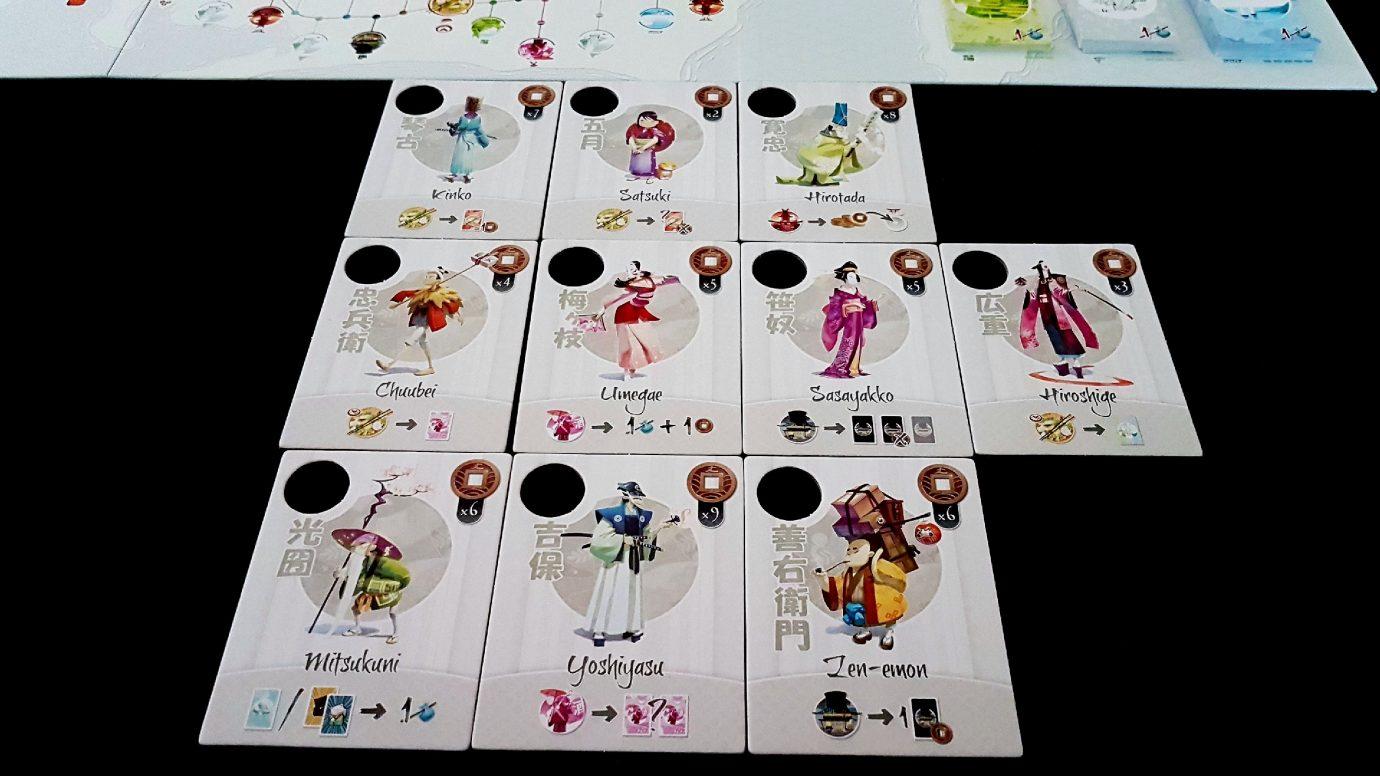 Characters in Tokaido