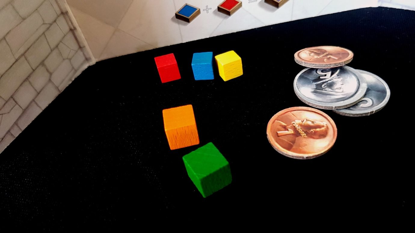 Cubes and coins