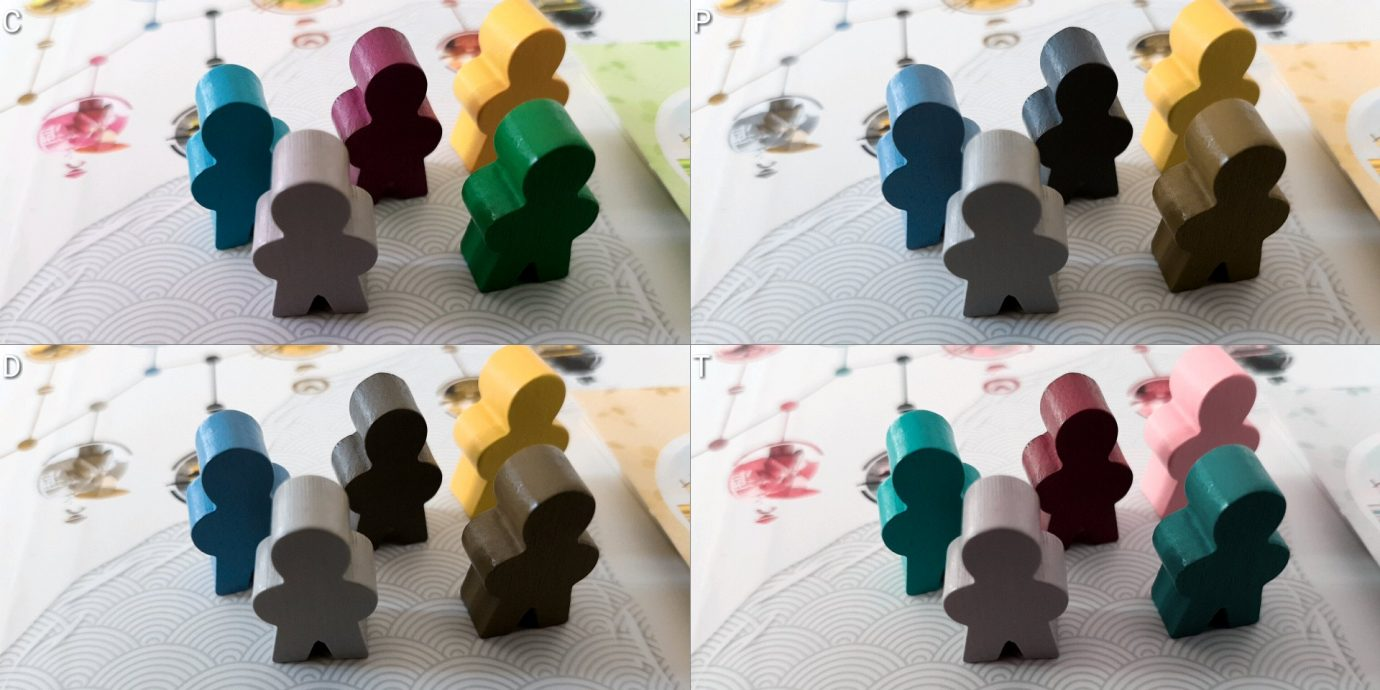 Colour blind meeples