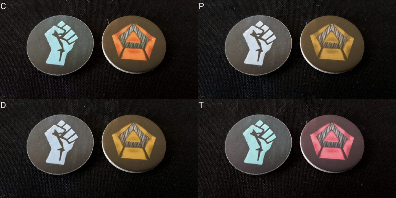 Colour blind tokens