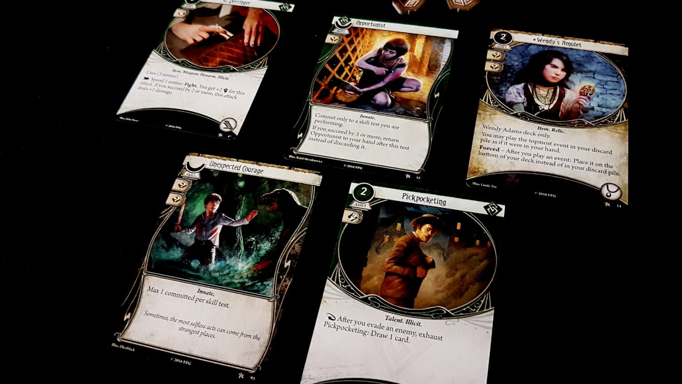Cards in a investigator's hand