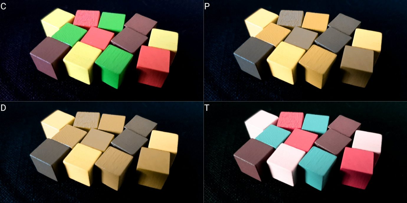 Colour blind cubes