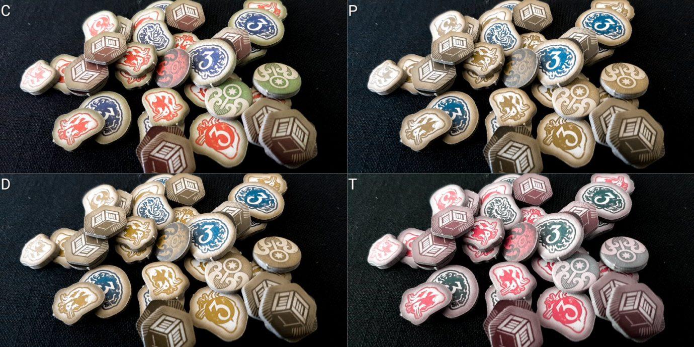 Colour blind tokens