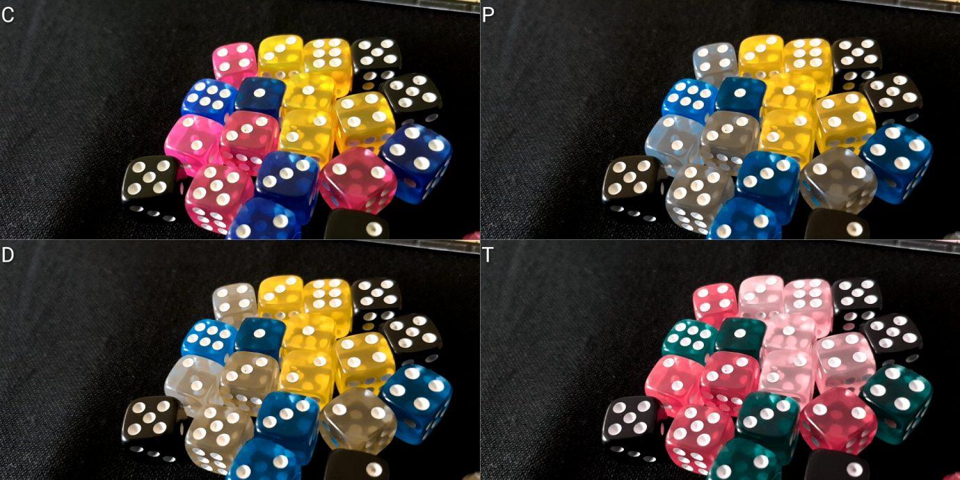 Colour blind dice