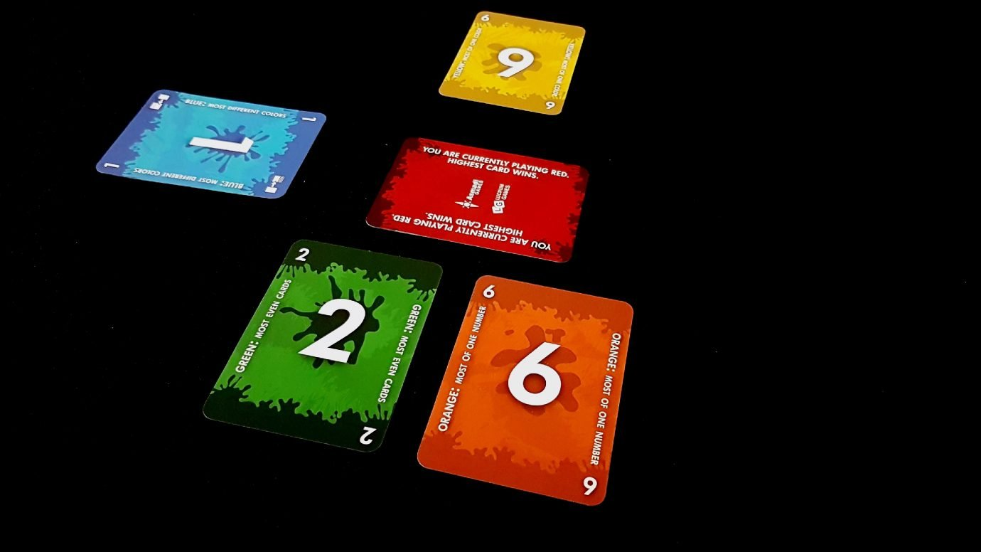 Laid out cards