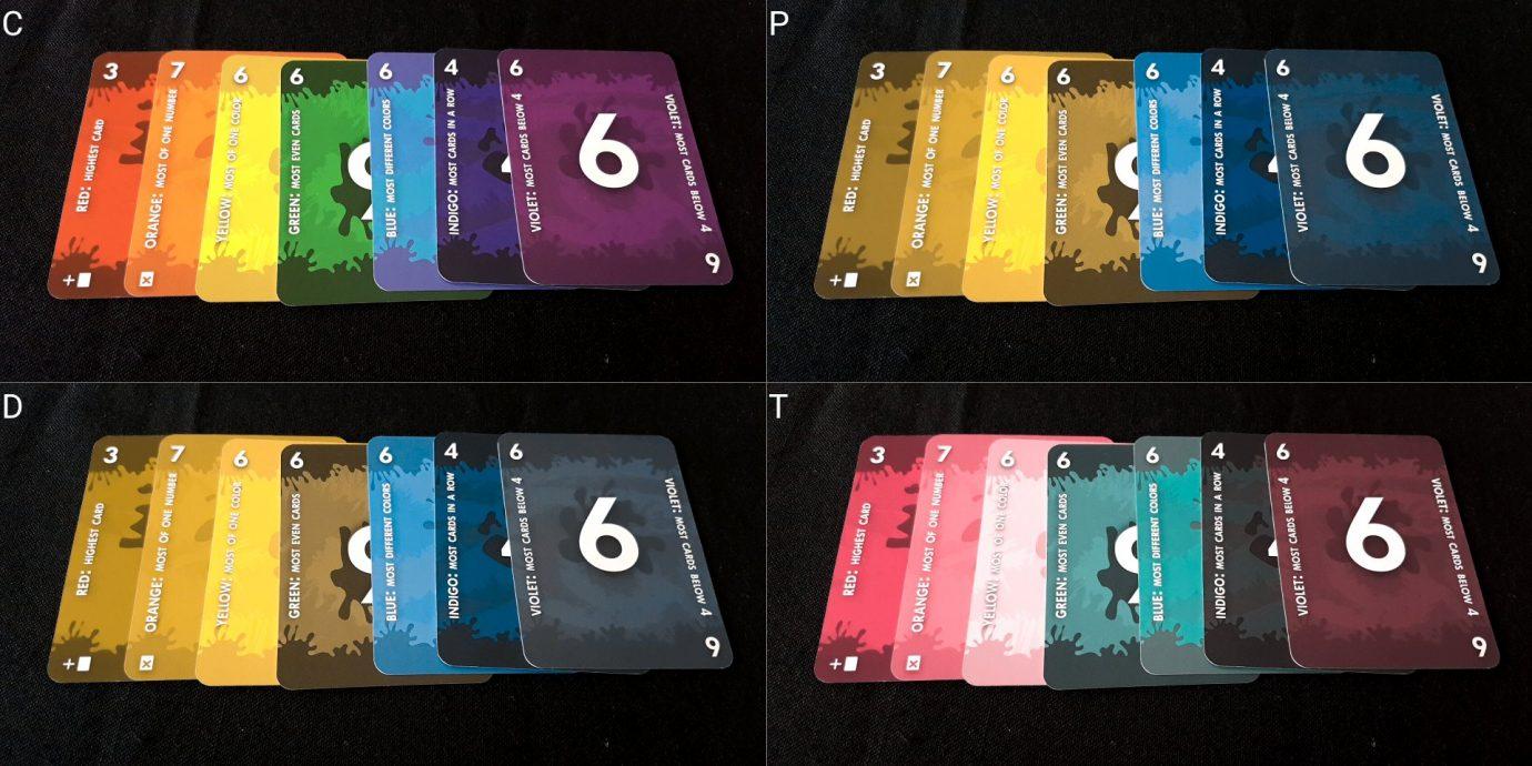 Splayed cards