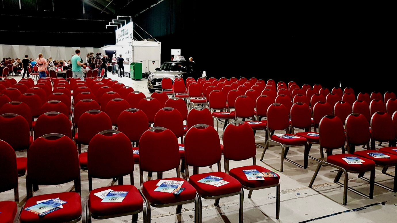 A photo of some empty chairs