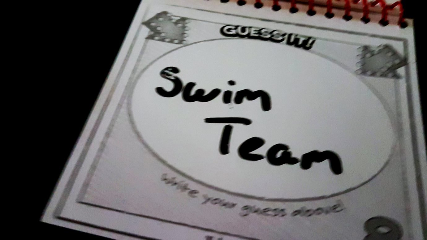 Swim team is the guess in Telestrations