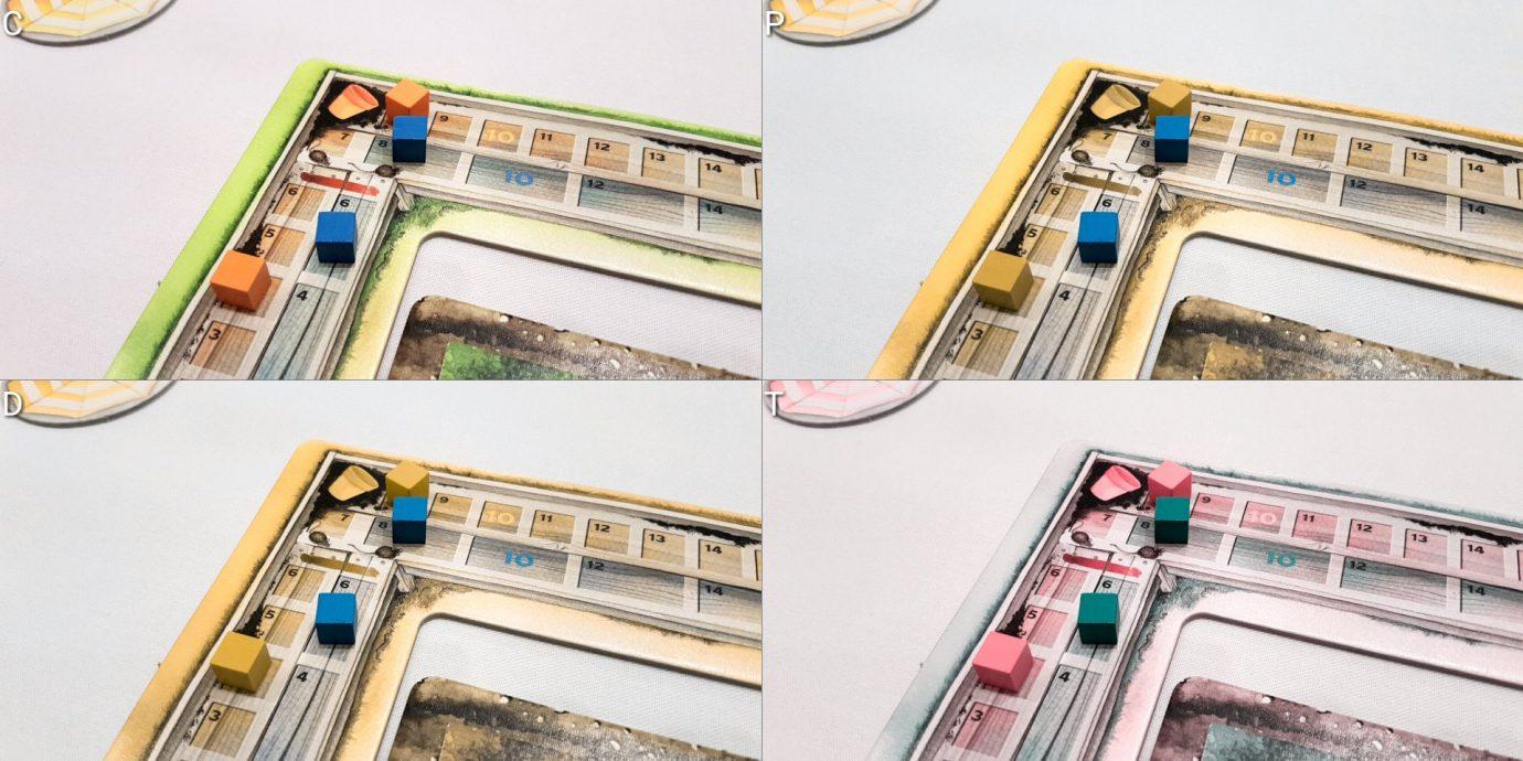 Colour blind score track