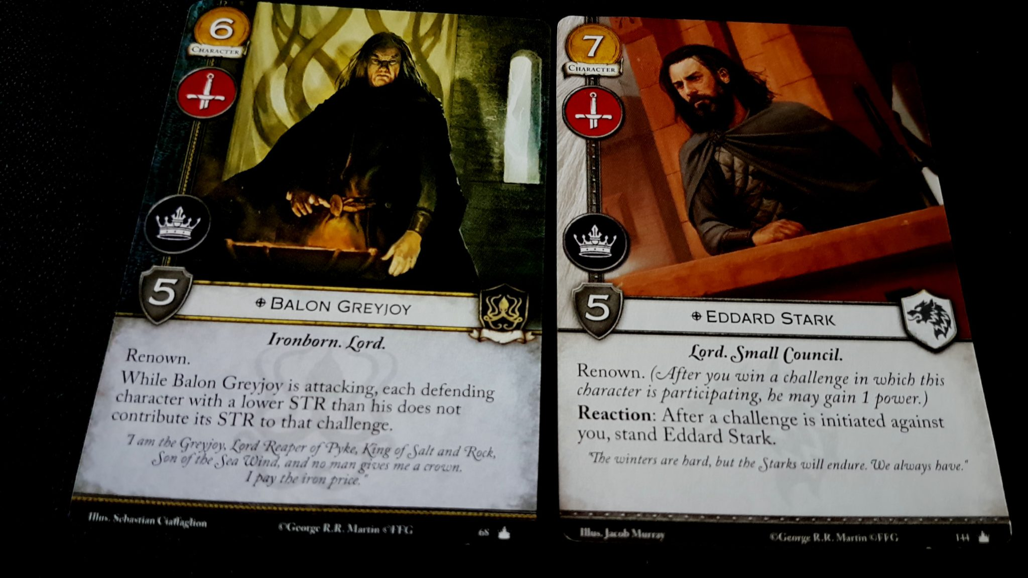 Eddard and Balon