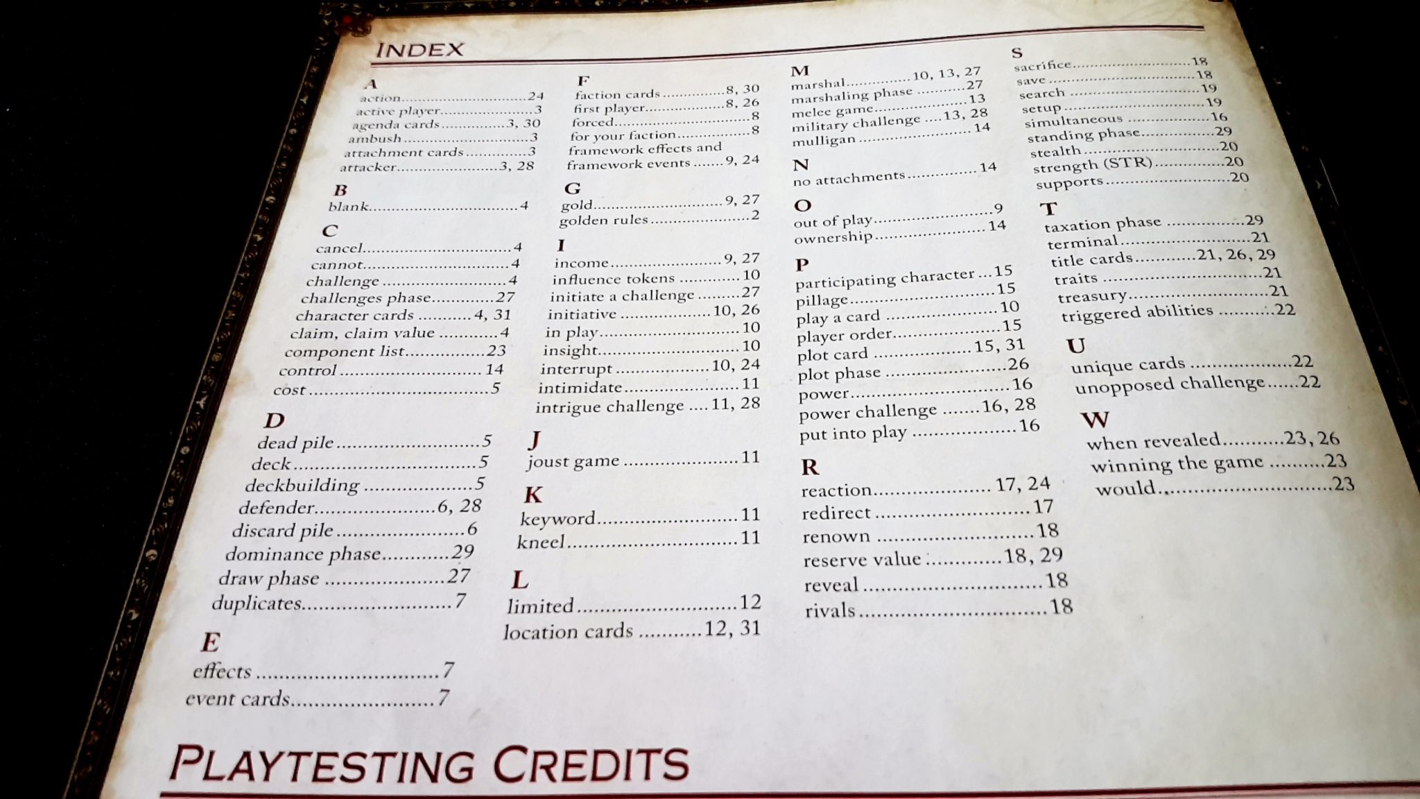 GoT Index