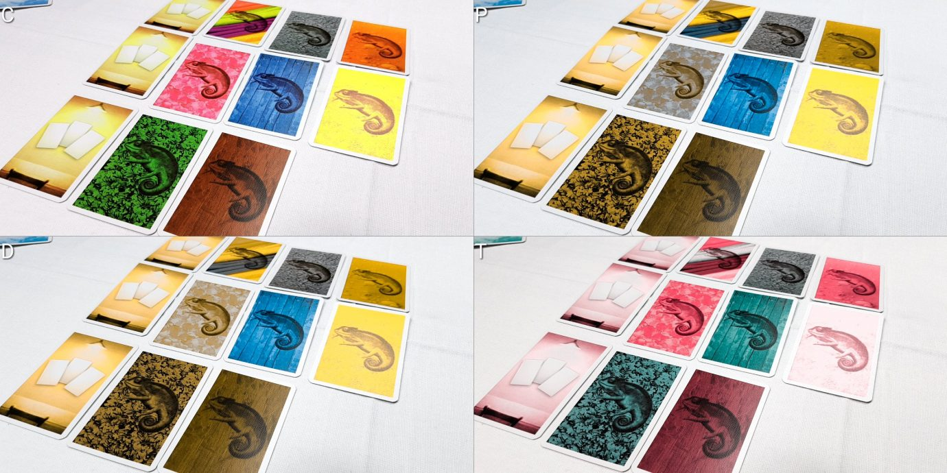 Colour Blindness cards in rows