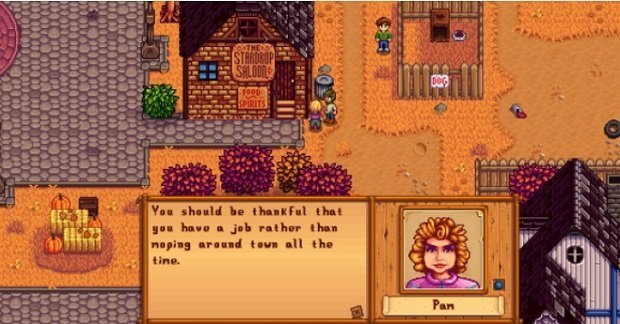 A 'conversation' with a stardew valley character