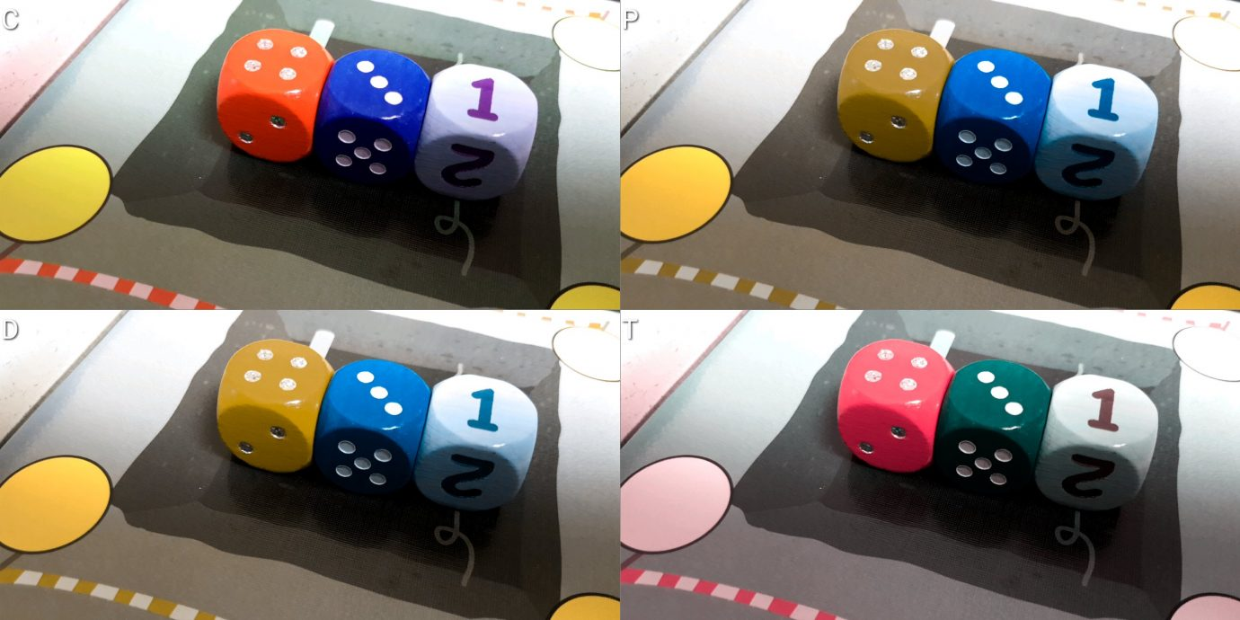 Rhino Hero colour blind dice