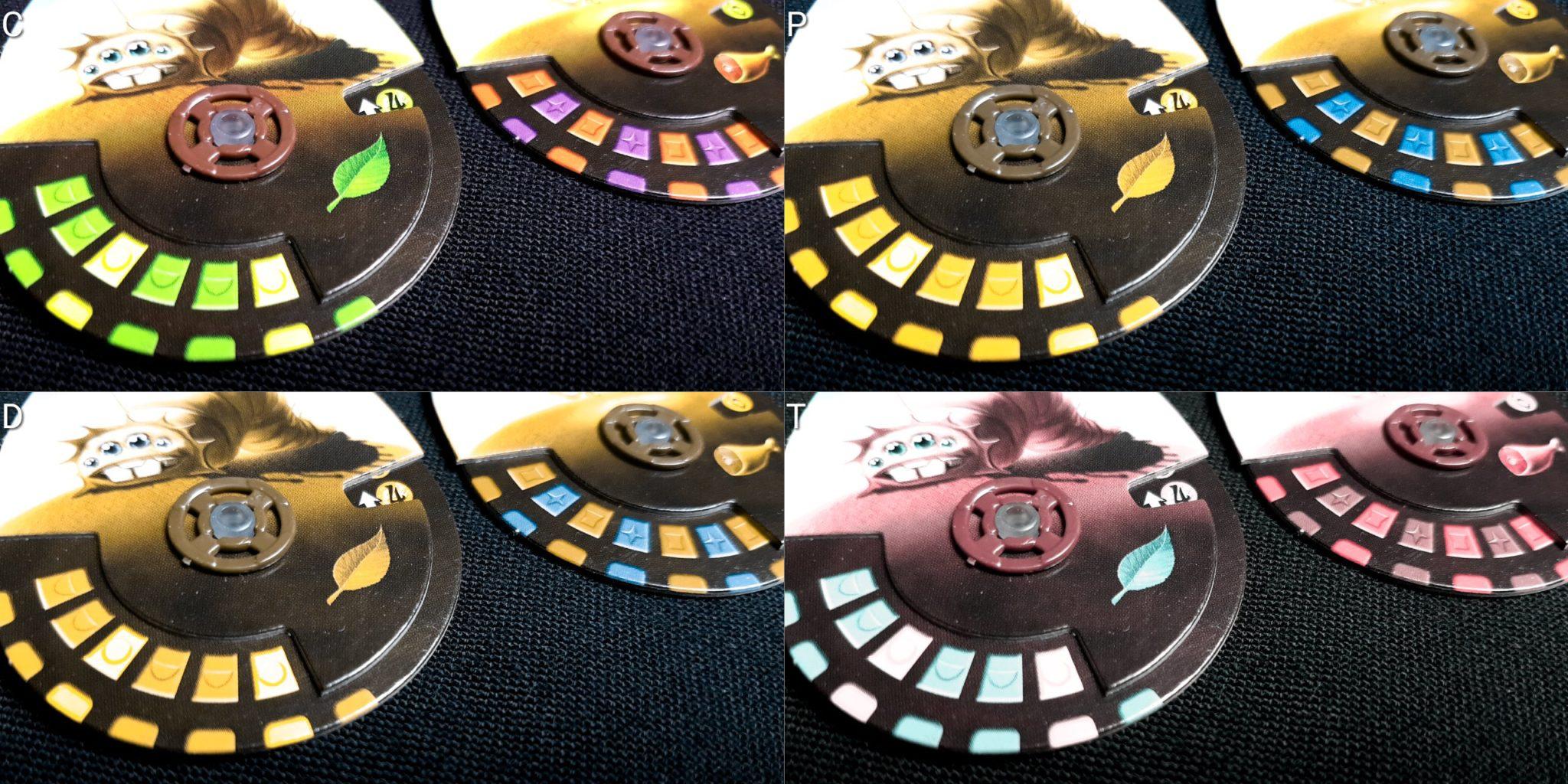 Colour blind pet dials