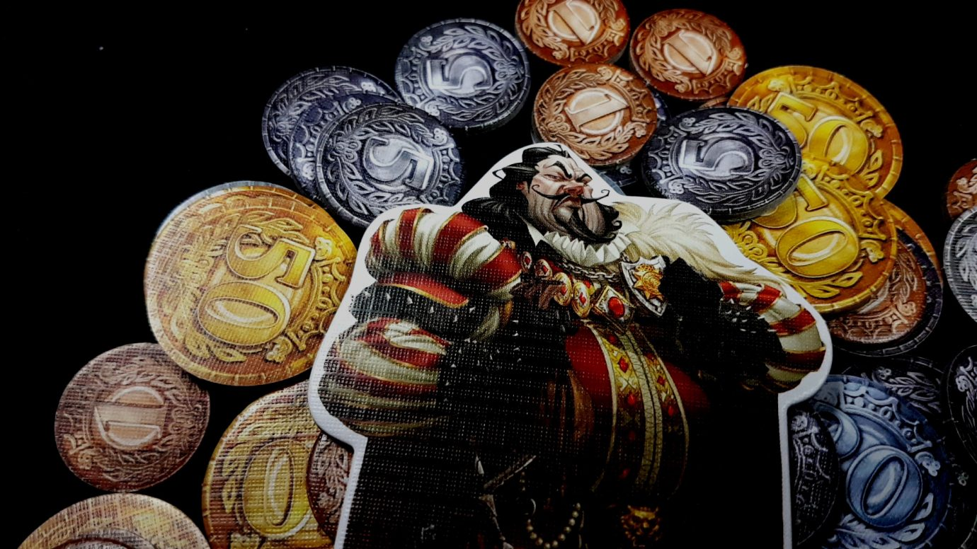 Sheriff of Nottingham on a plle of money
