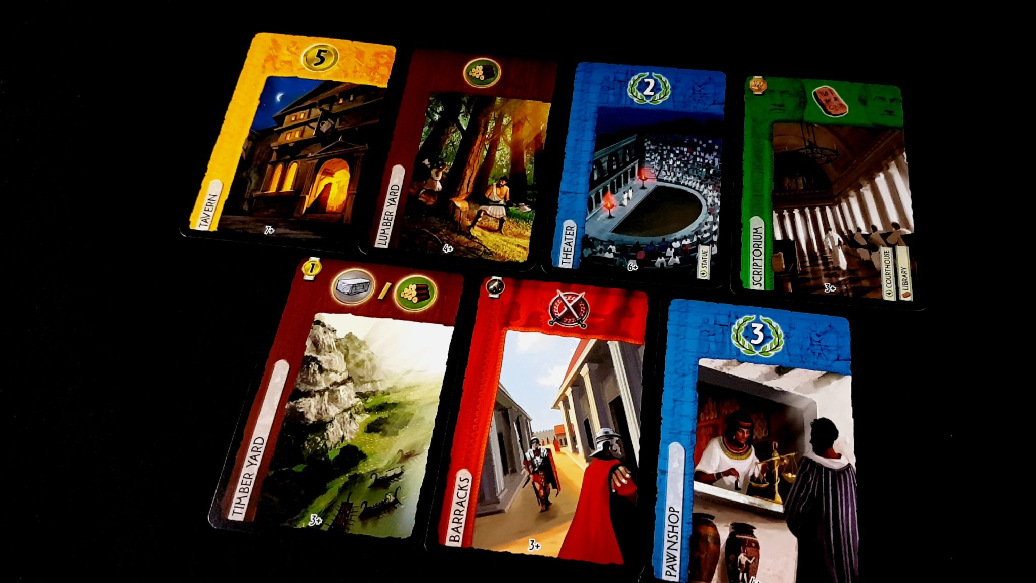 Cards from 7 Wonders