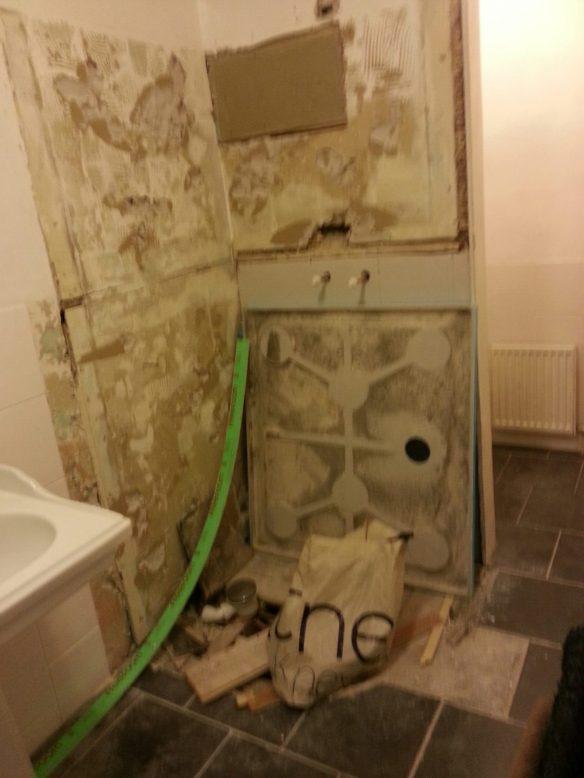 A devastated bathroom