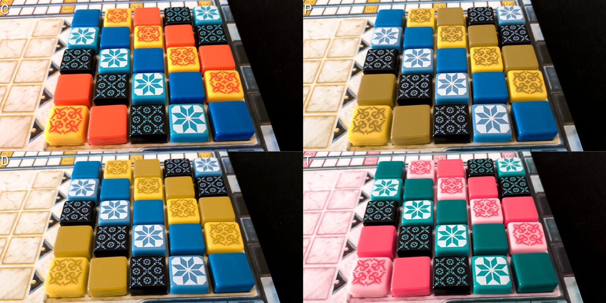 Colour blindness tiles