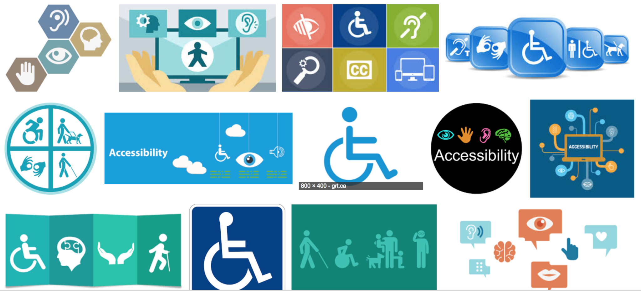 Google image results for 'accessibiliyy'. It is a sea of icons