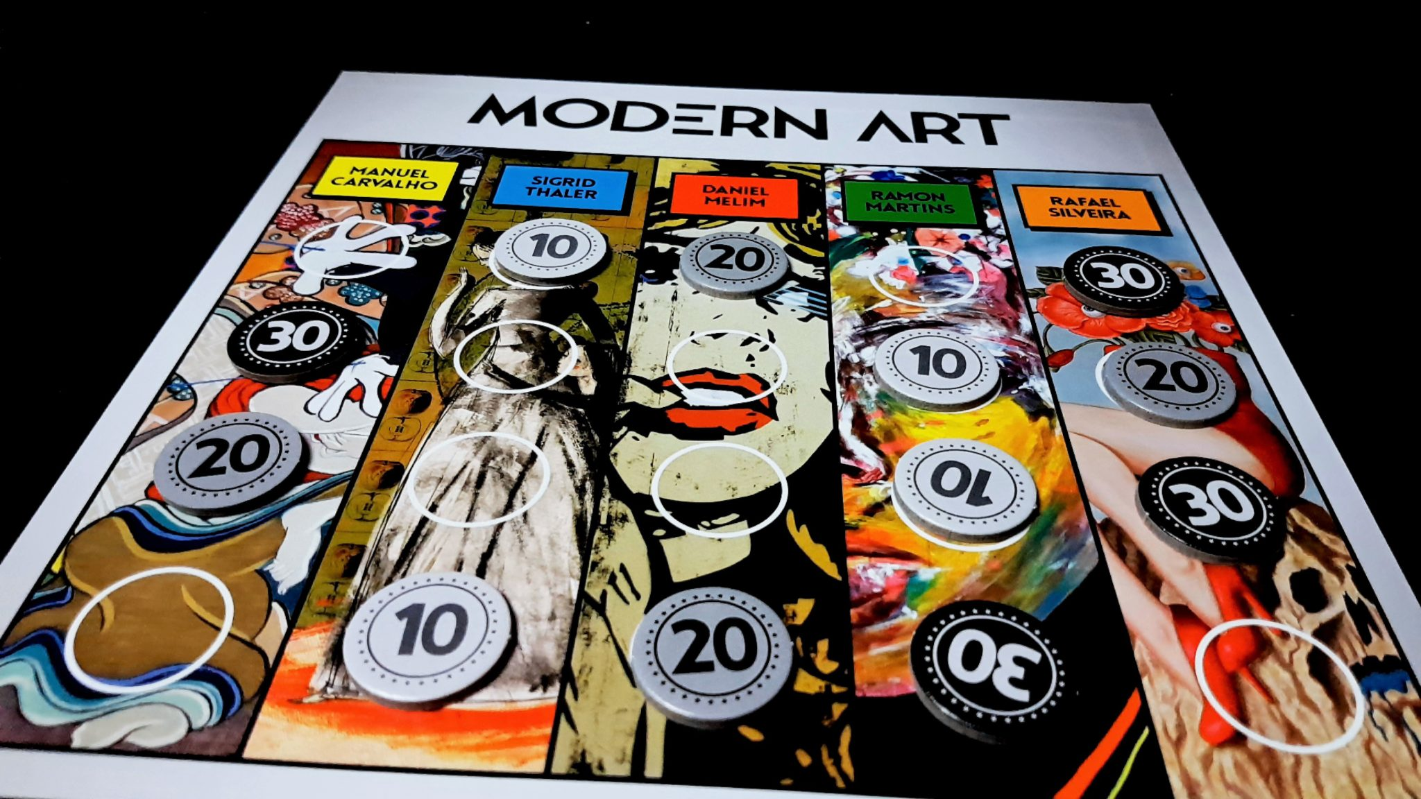 Modern Art player board