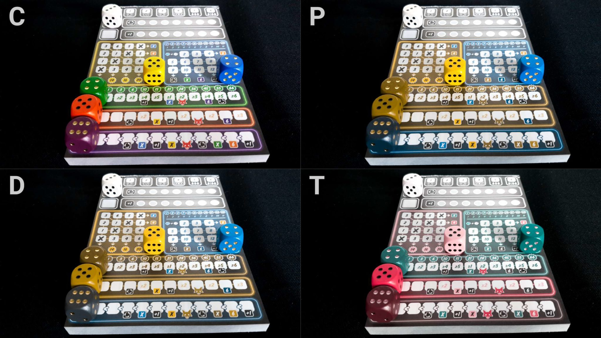 Colour blindness and dice